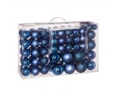 eminza Kit de decoración para abeto de Navidad 100 bolas Medianoche