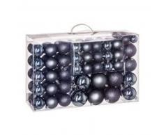 eminza Kit de decoración para abeto de Navidad 100 bolas Gris