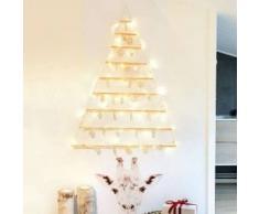 eminza Árbol decorativo Blanco cálido 48 LED