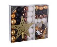 eminza Kit de decoración para abeto de Navidad Meribel Negro / Oro