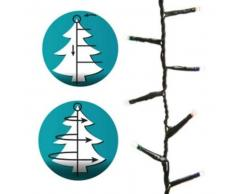 eminza Guirnalda Install' rapid 1,90 m para árbol Multicolor 700 LED CV