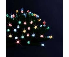 eminza Guirnalda luminosa Solar 5 m Multicolor 50 LED