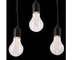 eminza Guirnalda de arranque luminosa Bombilla grande 9,50 m Blanco cálido 20 LED Conect 24 V