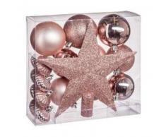 eminza Kit de decoración para abeto de Navidad Vasa Rosa polvo