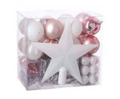 eminza Kit de decoración para abeto de Navidad Aspen Rojo / Rosa polvo