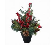 eminza Composición floral de Navidad Traditionnelle grand format