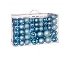 eminza Kit de decoración para abeto de Navidad 100 bolas Azul