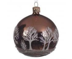 eminza Lote de 6 bolas de Navidad (D80 mm) Árbol Cobre