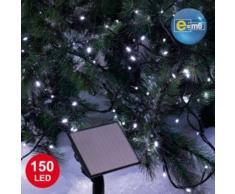 eminza Guirnalda luminosa Solar 15 m Blanco frío 150 LED