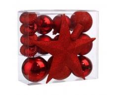 eminza Kit de decoración para abeto de Navidad Vasa Rojo