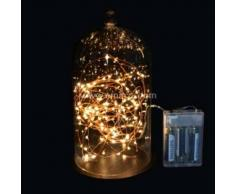 eminza Guirnalda luminosa Micro LED Minutero 5 m Blanco cálido 100 LED CC
