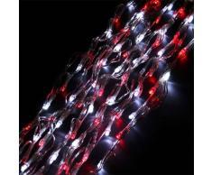 eminza Guirnalda luminosa Bicolor 8 m Rojo y blanco frío 192 LED