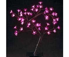 eminza Árbol luminoso para mesa Dévoluy Altura 45 cm Rosa