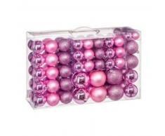 eminza Kit de decoración para abeto de Navidad 100 bolas Rosa