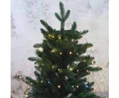 eminza Cortina para árbol Flashing light alto 1,50 cm Blanco cálido 210 LED