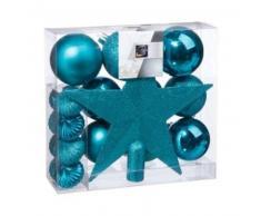 eminza Kit de decoración para abeto de Navidad Vasa Turquesa