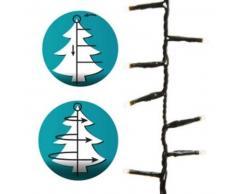 eminza Guirnalda Install' rapid 1,60 m para árbol Blanco cálido 540 LED CV