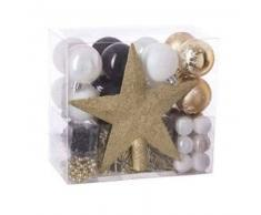 eminza Kit de decoración para abeto de Navidad Aspen Oro / Negro