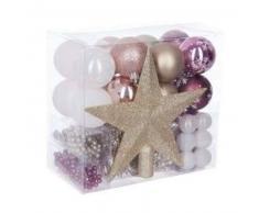 eminza Kit de decoración para abeto de Navidad Aspen Oro / Violeta