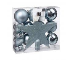 eminza Kit de decoración para abeto de Navidad Vasa Azul petróleo
