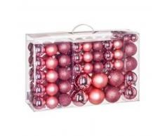 eminza Kit de decoración para abeto de Navidad 100 bolas Rosa antiguo
