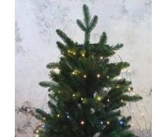eminza Cortina para árbol Flashing light alto 1,80 cm Blanco cálido 210 LED