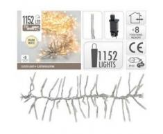 eminza Guirnalda luminosa Boa 8,40 m Blanco cálido 1152 LED