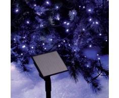 eminza Guirnalda luminosa Solar 10 m Azul 96 LED