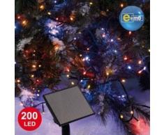 eminza Guirnalda luminosa Solar 20 m Multicolor 200 LED