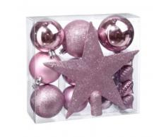 eminza Kit de decoración para abeto de Navidad Vasa Rosa antiguo