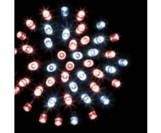 eminza Guirnalda luminosa Tecnobriright 10 m Bicolor rojo y blanco frío 100 LED CV