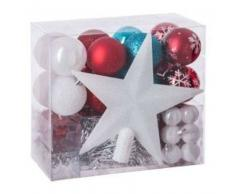 eminza Kit de decoración para abeto de Navidad Aspen Rojo / Rojo