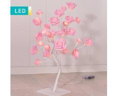 Lesara Árbol LED con flores color rosa