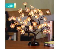 Lesara Árbol bonsái LED con flores
