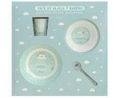 Laken Set Vajilla Melamina+babero+vaso Mr. Wonderful By Laken 6m+
