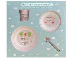 Laken Set Vajilla Melamina+babero+vaso Mr. Wonderful By Laken 6m+