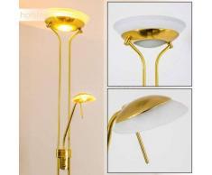 Globo Lámpara de pie con brazo de lectura Latón, dorado, 2 luces - 420/4650 Lumen - Moderno/Diseño - Zona interior - 2700 Kelvin - 3 o 6 días laborables .
