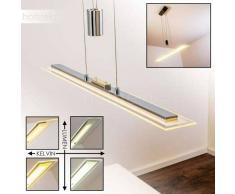 ADUNA Lámpara Colgante LED Cromo, 1 luz - 2200 Lumen - Moderno - Zona interior - 3000/6500 Kelvin - 2 - 4 días laborables .