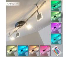 Opasatika Lámpara de techo LED Cromo, 4 luces - 320 Lumen - Moderno - Zona interior - 3000/RGB Kelvin - 4 - 8 días laborables .