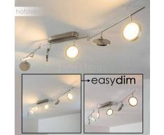 Alberton Lámpara de techo LED Níquel-mate, 6 luces - 500 Lumen - Moderno - Zona interior - 3000 Kelvin - 4 - 8 días laborables .