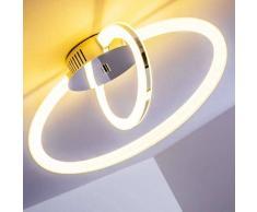 Tesoro Lámpara de techo LED Cromo, 1 luz - 850 Lumen - Diseño - Zona interior - 3000 Kelvin - 4 - 8 días laborables .