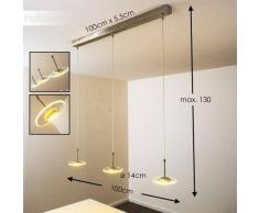 Puntarenas Lámpara colgante LED Acero inoxidable, 3 luces - 400 Lumen - Moderno - Zona interior - 2900 Kelvin - 2 - 4 días laborables .