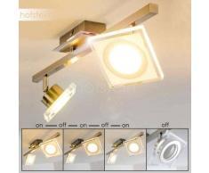 Kolari Lámpara de Techo LED Níquel-mate, Cromo, 2 luces - 700 Lumen - Moderno - Zona interior - 3000 Kelvin - 4 - 8 días laborables .
