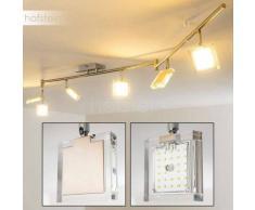 Kiruna Lámpara de Techo LED Níquel-mate, Cromo, 6 luces - 2520 Lumen - Moderno - Zona interior - 3000 Kelvin - 4 - 8 días laborables .