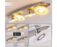 Croghan Lámpara de Techo LED Acero inoxidable, 4 luces - 350 Lumen - Moderno/Diseño/Industrial/vivienda Juvenil - Zona interior - 3000 Kelvin - 3 o 6 días laborables .
