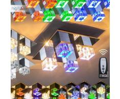 Wofi Lámpara de techo LED Cromo, 4 luces - - Diseño - Zona interior - - 4 - 8 días laborables .