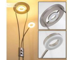 Watino Lámpara de pie LED Níquel-mate, 3 luces - 1650/350 Lumen - Diseño - Zona interior - 3000 Kelvin - 2 - 4 días laborables .