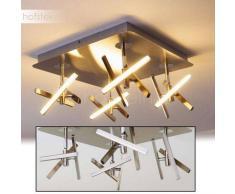 Windsor Lámpara de techo LED Níquel-mate, Cromo, 12 luces - 2400 Lumen - Diseño - Zona interior - 3000 Kelvin - 4 - 8 días laborables .
