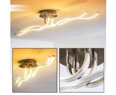 CORATO Lámpara de Techo LED Níquel-mate, 1 luz - 2000 Lumen - Moderno/Diseño - Zona interior - 3000 Kelvin - 4 - 8 días laborables .