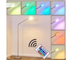 Fansen Lámpara de Pie LED Níquel-mate, Cromo, 1 luz - 320 Lumen - Moderno/Diseño - Zona interior - 3000/RGB Kelvin - 2 - 4 días laborables .